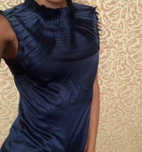 Блуза синего цвета