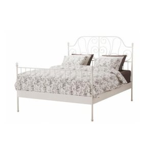 Двуспальная Кровать ЛЕЙРВИК из Икеа