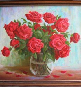 """картина """"Натюрморт с розами"""""""