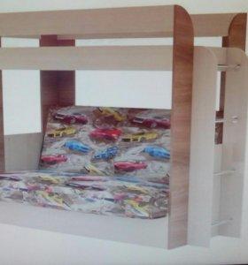 Двухьярусная кровать-диван