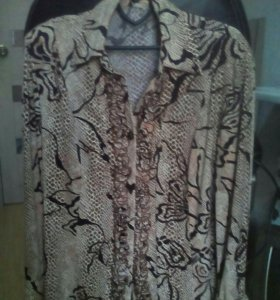Блуза-рубашка 48-52р