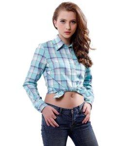 Клетчатая женская рубашка