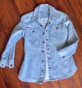 Рубашка - пиджак джинсовый