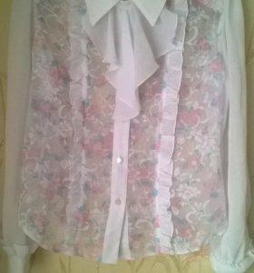Блузка школьная детская для девочки