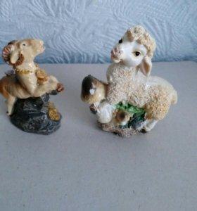 Фигурки Баран с овечкой