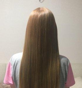 Кератиновое выпрямление/ ботокс для волос