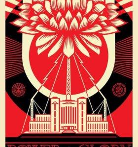 Green Power постер Shepard Fairey оригинал Obey