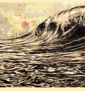 Shepard Fairey-Dark Wave оригинальный постер Obey