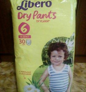 Трусики-подгузники Libero Dry Pants 6 (13-20 кг)