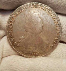 1 рубль 1793г СПБ ТИ ЯА