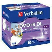 Оптический диск DVD+ R DL verbatim 8.5Гб 8x