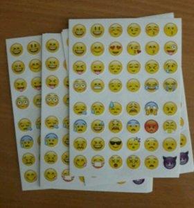 Наклейки стикеры смайлы emoji вк
