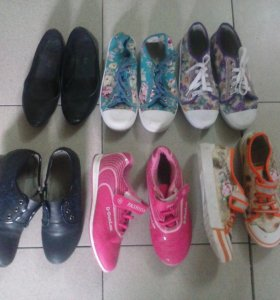 Обувь для девочки с 33 по 35 размер.