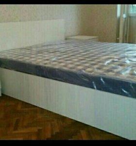 Кровать 160 с матрасом Аделия белая