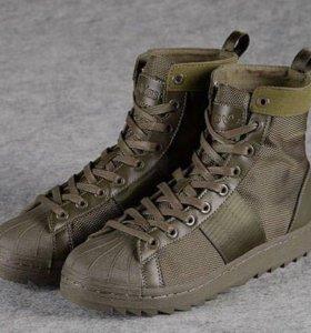 кроссовки Adidas Superstar Jungle Boots (Green)