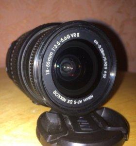 Объектив Nikon Nikkor AF-S 18-55 mm 3.5-5.6G VR II