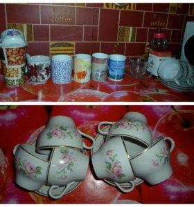 Посуда, кружки, бокалы, рюмки, чайный набор