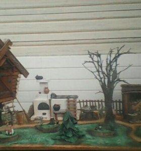 декоративное подворье Бабы Яги