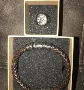Мужской браслет и кольцо