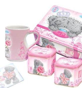 Чайная шкатулка с чашкой и подставкой, 100 г