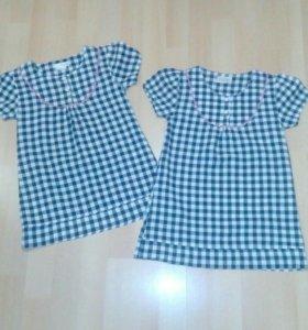Два одинаковых платья,одно на 110,другое на 116