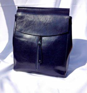Сумка рюкзак ( натуральная кожа)
