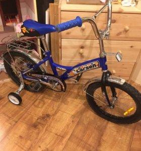 Детский велосипед 🚴 Ларсен колёса 16 д синий