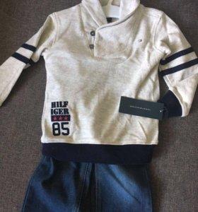 Кофта и джинсы Tommy Hilfiger на 2 года (новый)