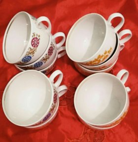Чайные чашки, 10 шт. за 100 рублей
