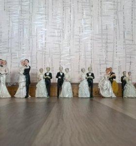 Фигурки свадебные .
