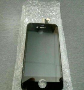 Дисплей+сенсор iphone 4 черный ААА