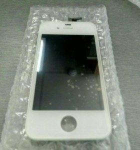 Дисплей+сенсор Iphone 4S белый ААА