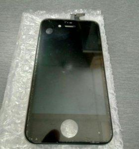 Дисплей + сенсор Iphone 4S черный