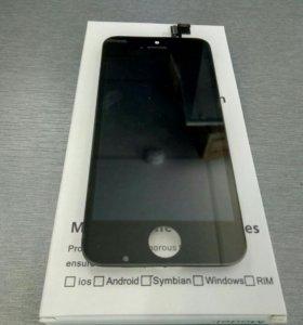 Дисплей+сенсор Iphone 5S черный ААА