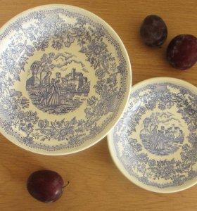 глубокая миска и тарелка, СССР, Буды, винтаж