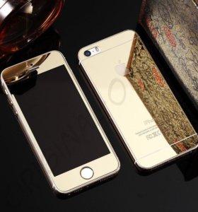 Двойное защитное стекло iphone 5