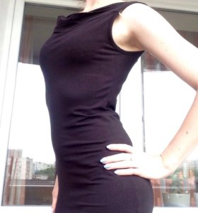 Платье трикотаж, б/у 1 раз