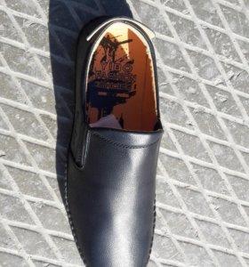 Обувь мокасины мужские