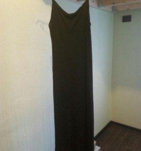 Платье черное, длинное