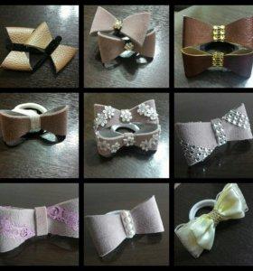 Резинки, заколки, повязки и рамки ручной работы