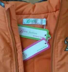 Новая фирменная куртка Born на мальчика,размер 140