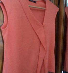 Платье-сарафан и топ 46 размера