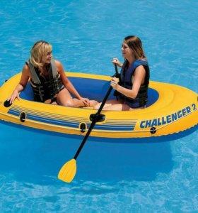 68367 Надувная двухместная лодка Intex