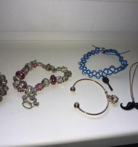 Красивые украшения,цепочка,брошь,браслет