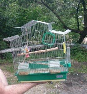Срочно Клетка для попугайчиков