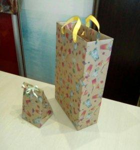 """Пакет подарочный ( рисунок """"Коктейль"""")"""