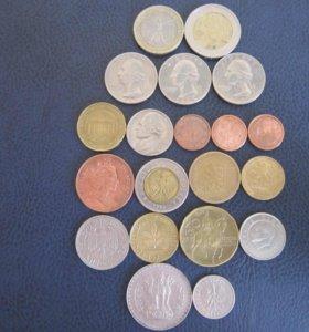 20 иностранных монет