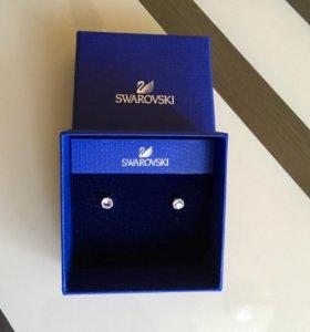 Серьги-пусеты Swarovski Solitaire