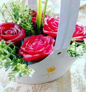 Букеты из мыльных роз в Ялте