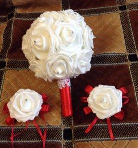Букет невесты и 2 бутоньерки